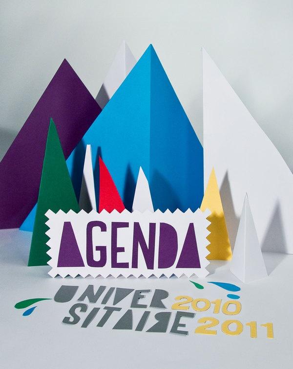 Agenda universitaire by Emilie Bergeron, via Behance