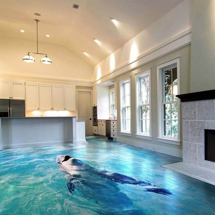 Amazing 3d Floor Mural For Living Room Bathroom Bedroom Design Engineering Amazing Bathroom In 2020 Living Room And Kitchen Design Floor Murals Floor Design