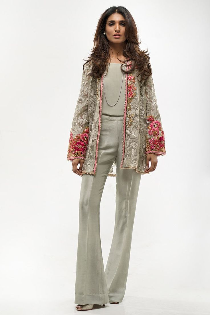 Picture of Indian Net Embroidered Coat