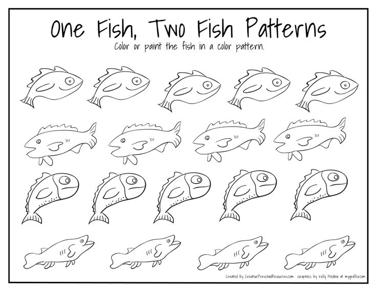 One Fish Two Fish Patterns - Page 001