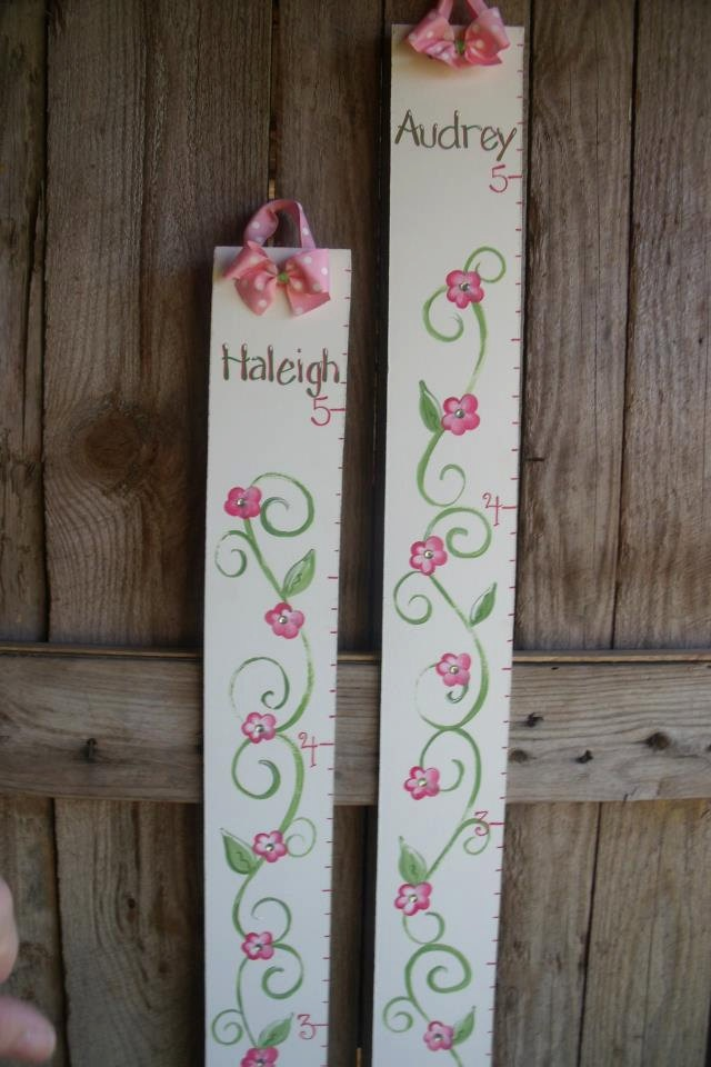 Growth Chart Personalized Wooden Hand Painted