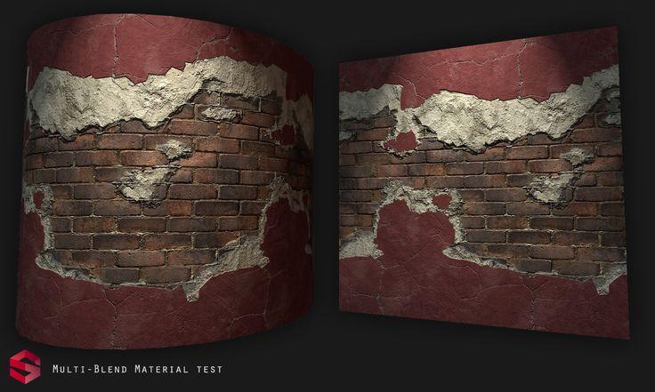 ArtStation - Multi Material Blend - Substance Designer., Pierre FLEAU