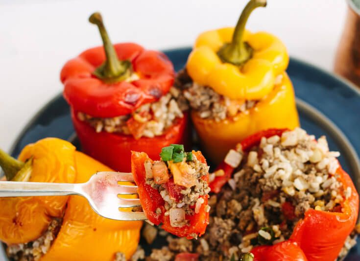 Stuffed Peppers with Rice Recipe - Dr. Axe