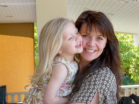 Actress Amanda Tapping, here with her daughter Olivia, is sharing her experience with miscarriages for the first time in the hopes of helping women who have endured similar loss.  Tapping suffered two miscarriages before Olivia's birth, and six after.