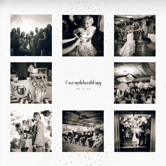 Instagram Wedding PHOTO COLLAGE by pixelpdesigns on Etsy