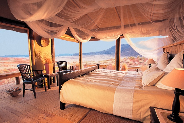 Idyllic, rustic, accommodation at one of the lodges at NamibRand Nature Reserve #Namibia More: http://www.namibrand.com/Tourism.htm