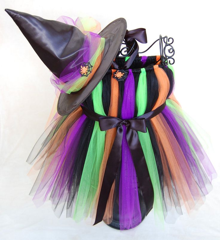 Halloween Tutu - Atutudes  Glittery Cute Witch Boutique Tutu Dress and Witch Hat Set - Created for Emmy Awards Gift Suite, seen on Etsylush. $69.95, via Etsy.