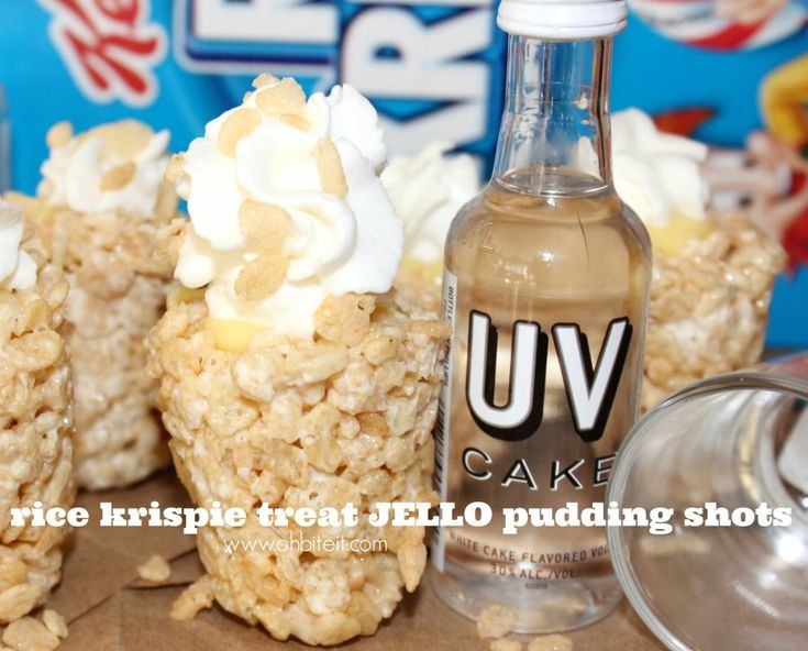 ~Rice Krispie Treat JELLO Pudding Shots!