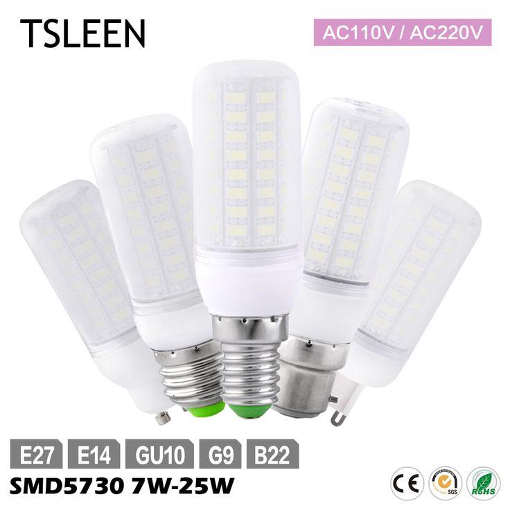 TSLEEN Ultra Brillante 15 W/20 W/25 W 5730SMD GU10/E27/G9/E14/B22 AC 110 V/220 V LED Del Maíz Del Bulbo Fresco Blanco Cálido Iluminación LED Spotlight
