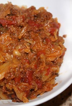 Paleo Cabbage Roll Skillet Dinner- can also be made in the crockpot!