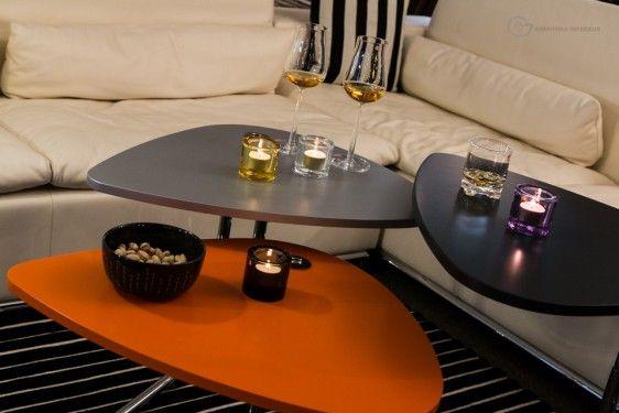 tecta k22l bijzettafel gerritsma interieur salontafel rood zwart grijs