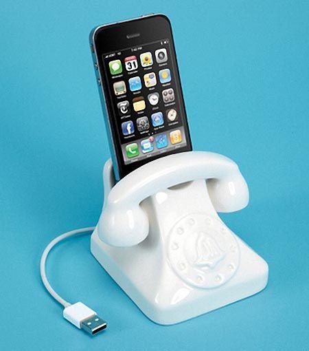 Jonathan Adler Retro Phone Styled Porcelain iPhone Dock