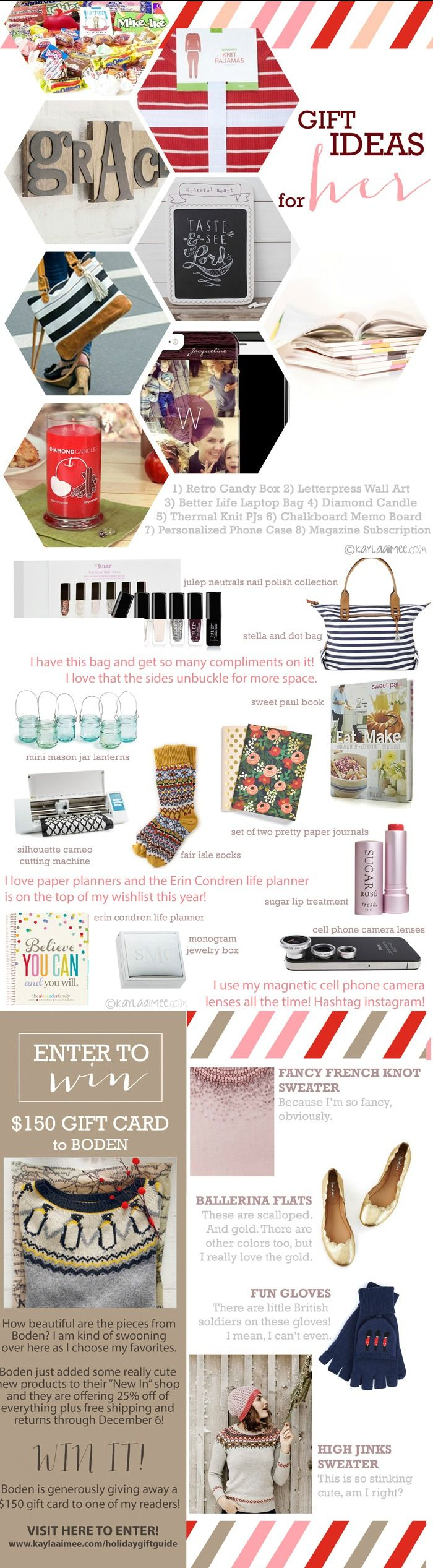 The BEST collection of creative gift ideas for women + a $150 gift card giveaway to Boden!