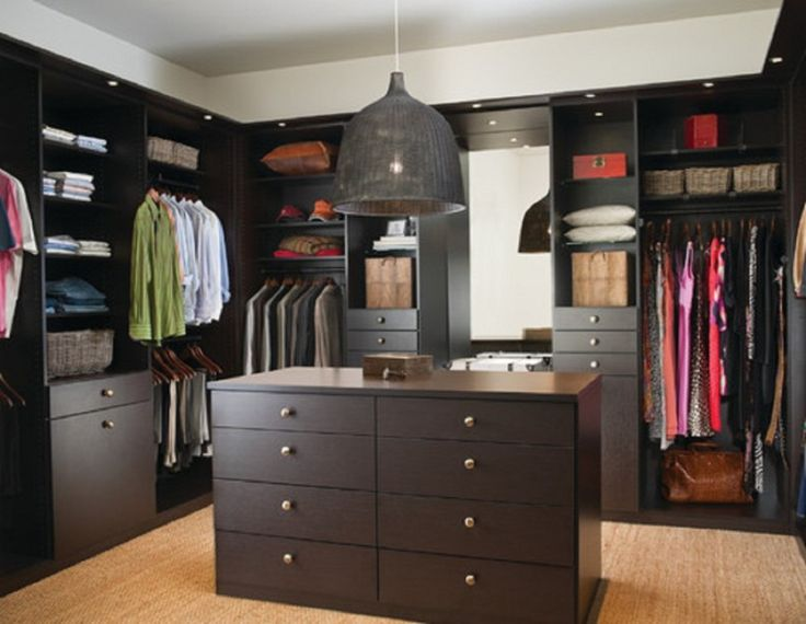 Innovative Interior Design Walk In Wardrobe Inspiring. Fascinating Walk In  Closet Design For Minimalist Wardrobe Room With U Shaped Deep Brown  Mahogany ... Part 41