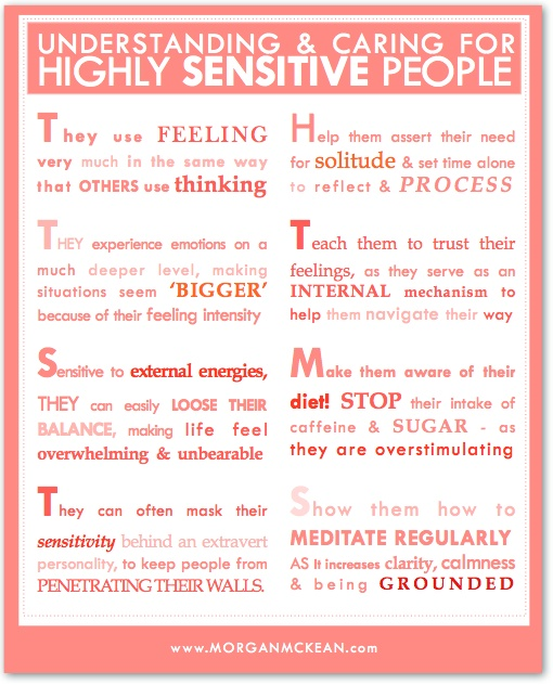 If there is someone in your life who's a little more sensitive, including YOU…