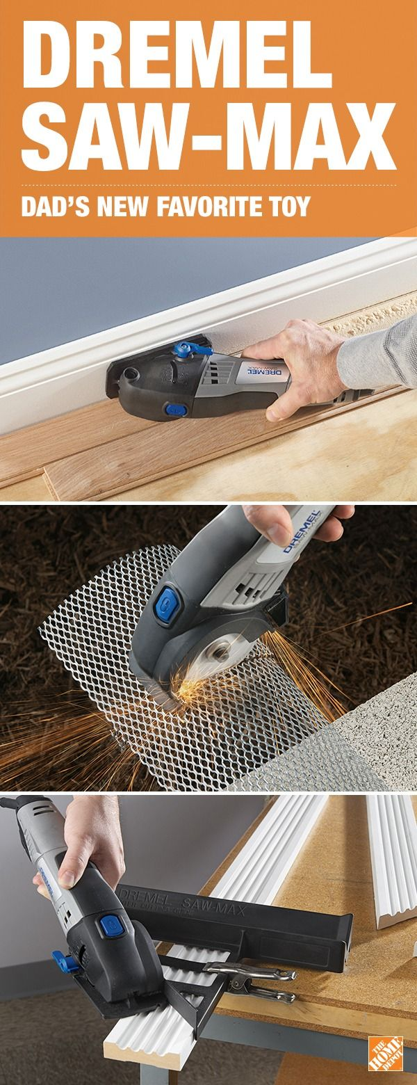 Powerful enough to efficiently cut through virtually any material, the Dremel Saw-Max reinvents cutting and is sure to blow Dad away. Simple enough to control with one hand, the compact size and ergonomic design make it easy to handle, follow the cut line and easy to store. Click to learn more about this perfect gift for Dad.