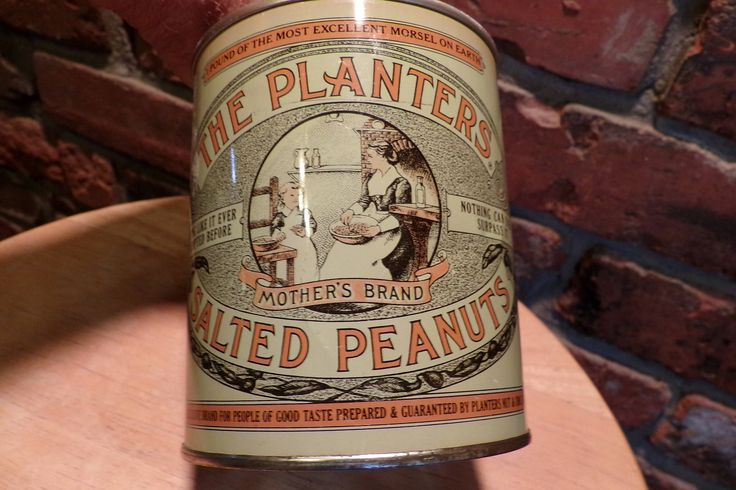Planters Peanuts Tin Can, Vintage 1981 Limited Edition 75th Anniversary Planters Salted Peanuts Tin , 1980's prop, Rustic decor by Morethebuckles on Etsy