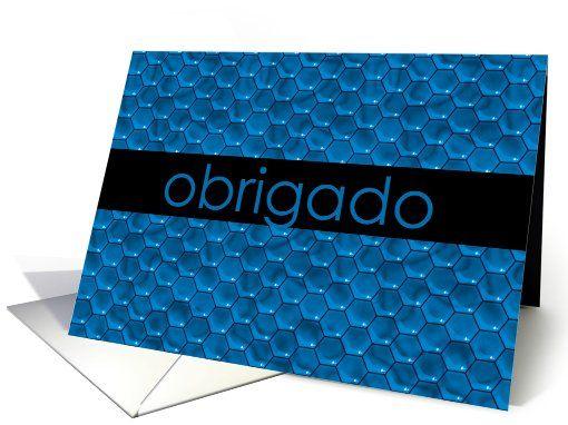 carte de remerciement en portugais