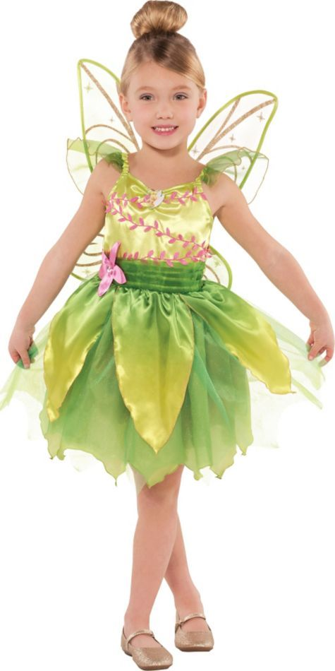 Toddler Girls Classic Tinkerbell Costume - Party City