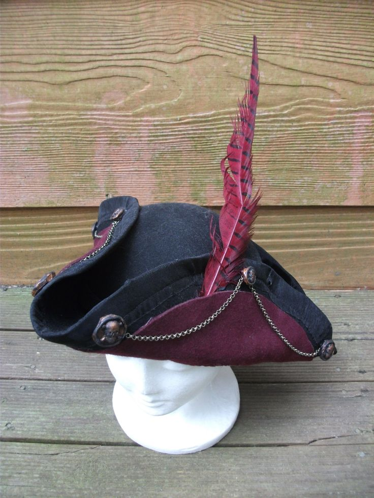 Steampunk pirate hat made by Kat Douglas