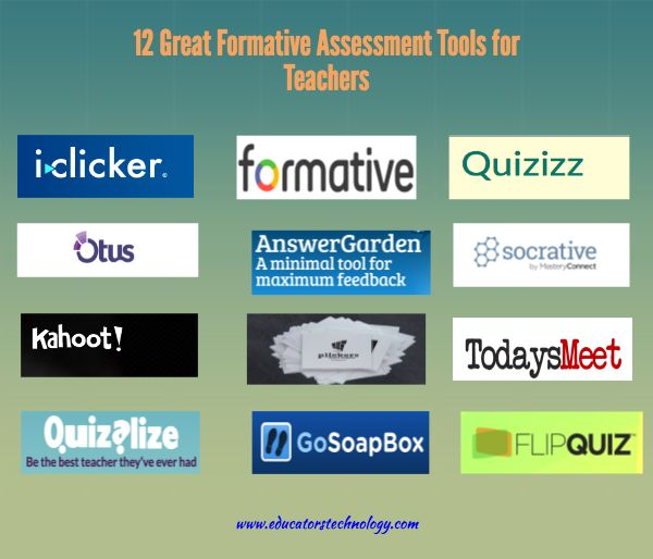 12 Great Formative Assessment Tools for Teachers ~ Educational Technology and Mobile Learning