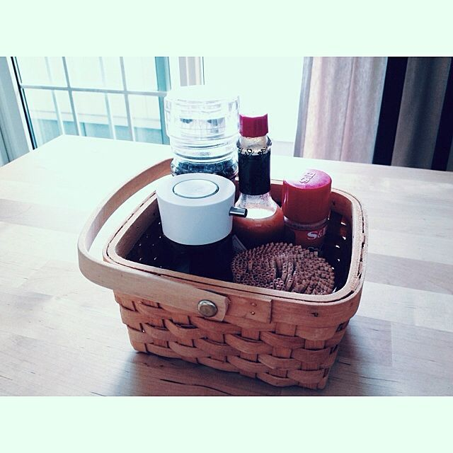 Kitchen/IKEA/DEAN&DELUCA/入れ物/カゴ/バスケット/IKEAテーブル...などのインテリア実例 - 2013-09-23 00:42:28