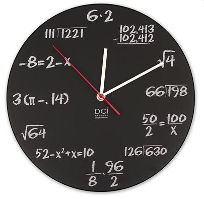 The geek in me can't wait to recreate this math clock!