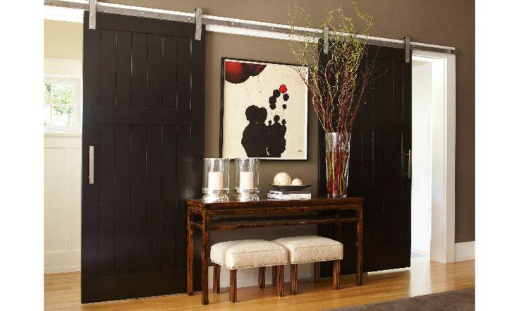 Mirrored sliding barn doors urrutia design doors for Mirrored barn door