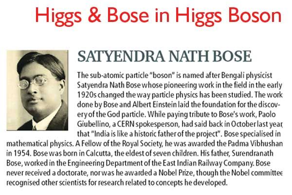 Higgs and Bose in Higgs Boson