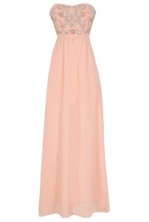 Twinkling Rose Embellished Pink Maxi Dress  www.lilyboutique.com