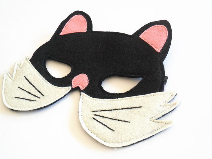 Cat Kids Animal Mask,  Children Halloween Mask, Carnival Mask, Dress up Costume Accessory, Boys, Girls, Toddlers Felt Pretend Play Toy. €11,00, via Etsy.