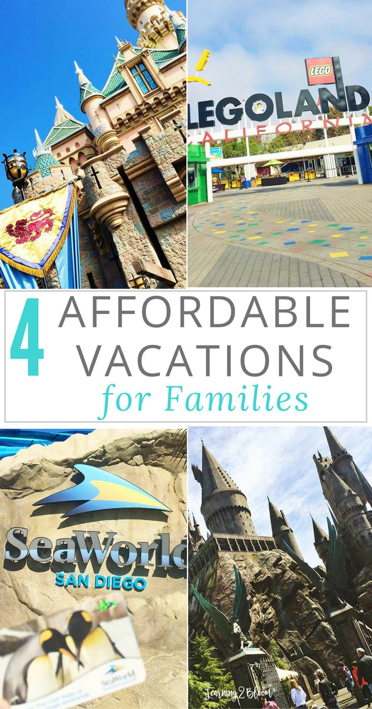 4 affordable vacations for families. Read more for information on amazing family and kid friendly places to travel to on a budget. Perfect for summer vacation.