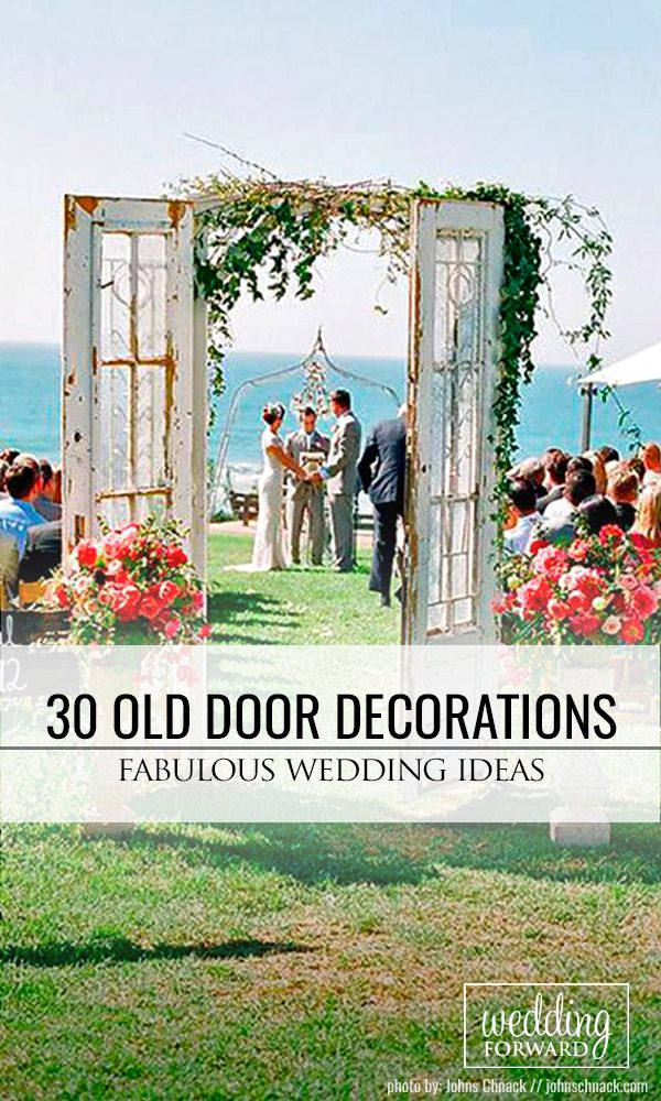 30 Fabulous Rustic Old Door Wedding Decoration Ideas ❤ Fresh air, smell of wood, hay, a lot of string lights around, beautiful decor... See our gallery of old door wedding decoration ideas for more inspiration! See more: http://www.weddingforward.com/old-door-wedding-decoration-ideas/ #weddings #decoration