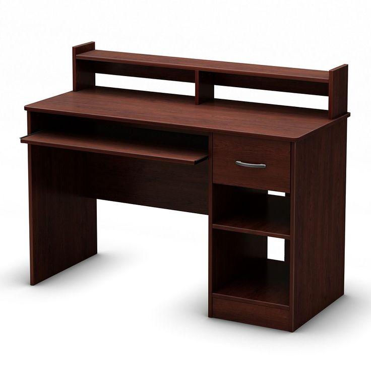 South Shore Axess Desk, Dark Red