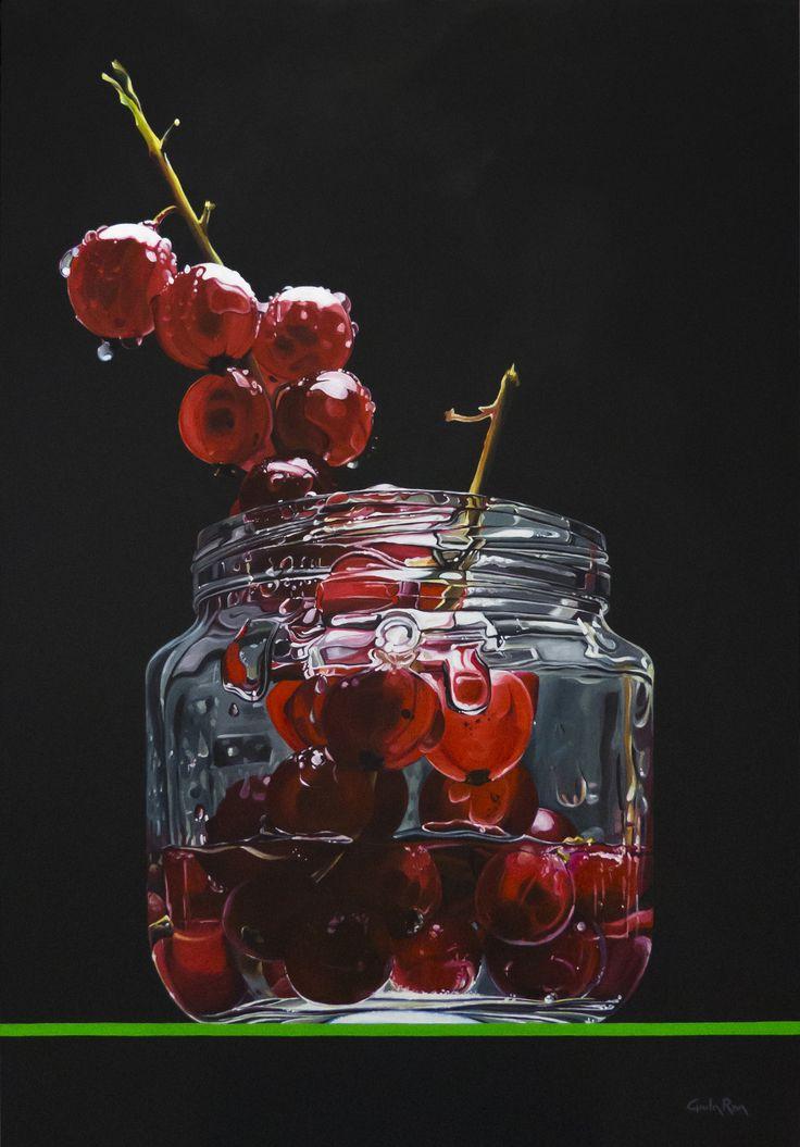 """""""L'apparente dolcezza"""" - """"The apparent sweetness"""" acrilico su tela 70x12 cm - acrilic on canvas 27,3x439"""" © Giulia Riva Art"""