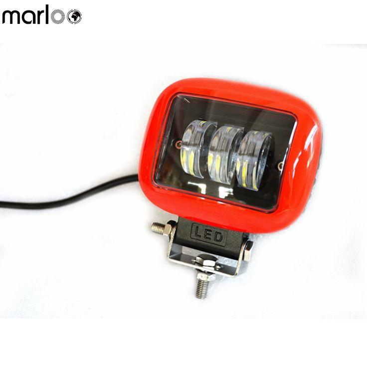 Marloo Black Red 30W Spot Led Work Light Lamp 12V 24V Led Vehicle SUV Worklight Off Road 4X4 Led Offroad Light Driving Fog Light