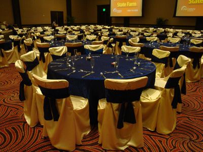 Chair Covers on table and chair rentals las vegas