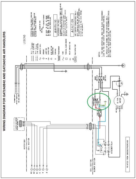 trane air handler wiring diagram hvac with