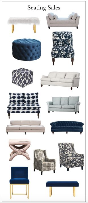 Sofas, loveseats, chairs, ottomans, etc on sale
