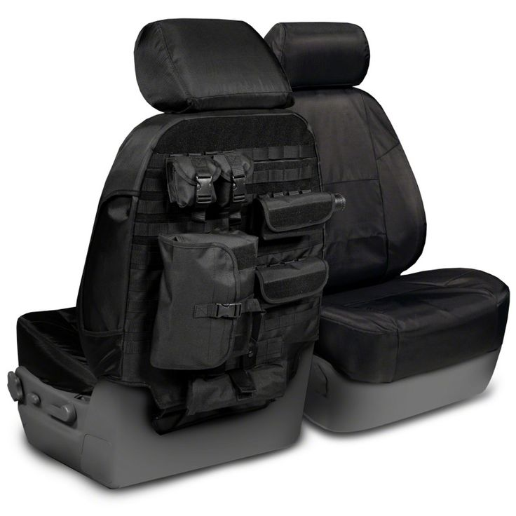 Ballistic Black tactical seat covers