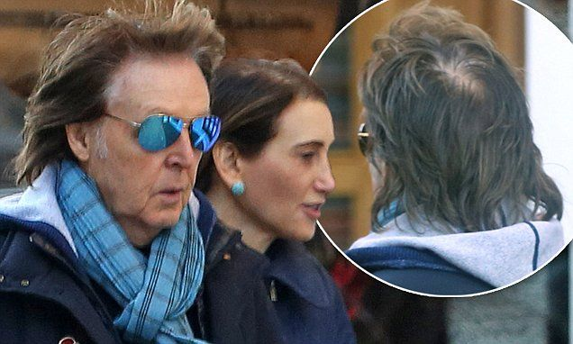 Paul McCartney displays bald patch on lunch date  with Nancy Shevell