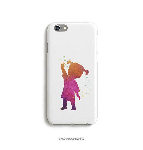 Case Boo Monster Inc Phone iPhone 6 Tough 6s Plus 5 5s 5c SE Samsung Galaxy S6 Watercolor Disney Silhouette Film Pink Art Matte Glossy