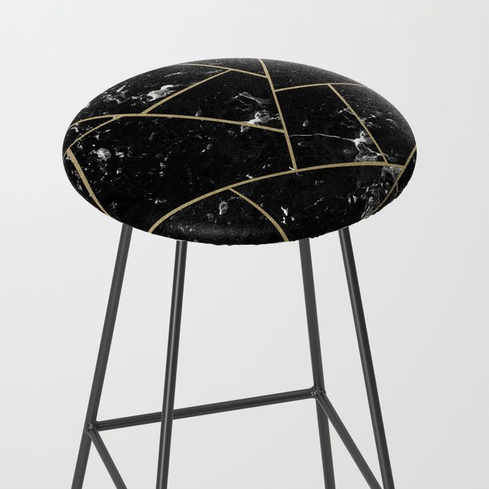 Black Marble Gold Geometric Glam 1 Geo Decor Art Society6 Bar
