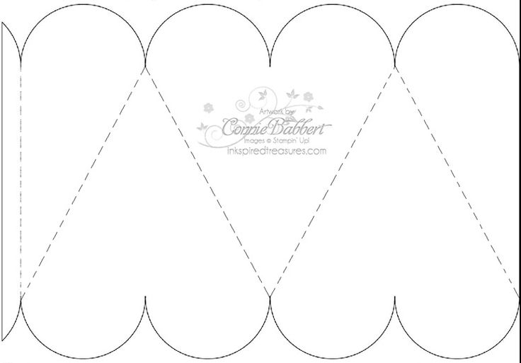 free printable boxes patterns   InkspiredTreasures.com » Blog Archive » Heart Box Template
