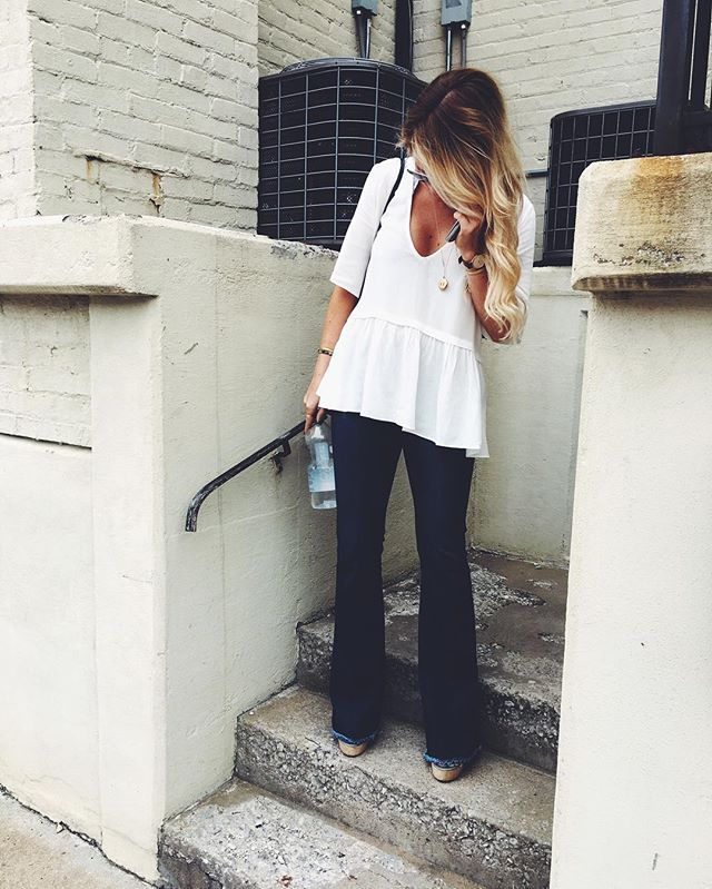 Flare jeans outfit