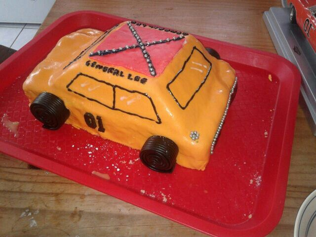 Dukes of hazard cake, made by me for my stepson.