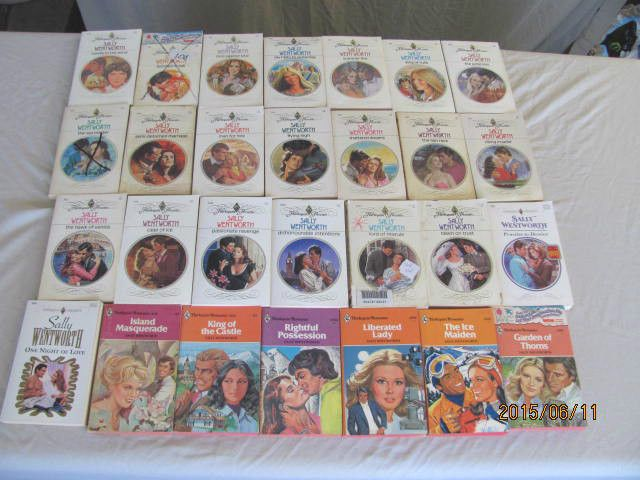 SALLLY WENTWORTH – HARLEQUIN ROMANCE'S-LOT OF 28 PAPERBACK BOOKS- Combine Ship/