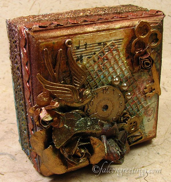"""""""Treasured Memories"""" - Mixed Media Jewellery Box. Give a gift that's truly unique.  http://www.falcongreetings.com/handmade-gifts/treasure-boxes"""