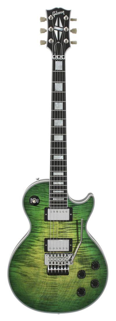 Gibson Custom Shop Les Paul Custom Axcess Iguana Burst. Weird to see a Custom Access!