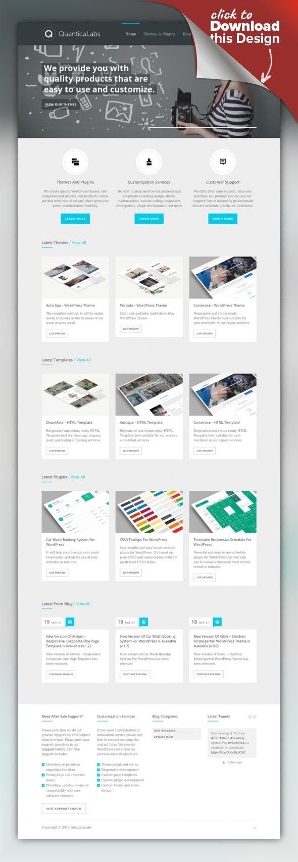 Cascade - Personal vCard WordPress Theme blog, clean, contact form, curriculum vitae, cv, dark, light, menu, minimalist, modern, personal profile, portfolio, resume, vcard, widget Latest Version: 21.07.2016 – v7.7. Check the changelog Cascade is a minimalistic personal vCard WordPress Theme based on colorful vertical menu tabs. Tabs are presenting content of the pages. Each page is a single tab. The Theme comes loaded with dark and light ski...